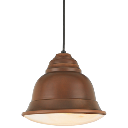"""12"""" shade in 77 rosewood, 8 ft. black cord with 91 black canopy, BGPD accessory cloud color"""