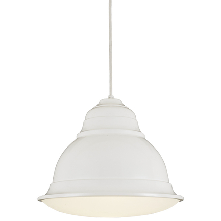"""16"""" shade in 93 white, 8 ft. white cord with 93 white canopy, BGPD accessory cloud color"""