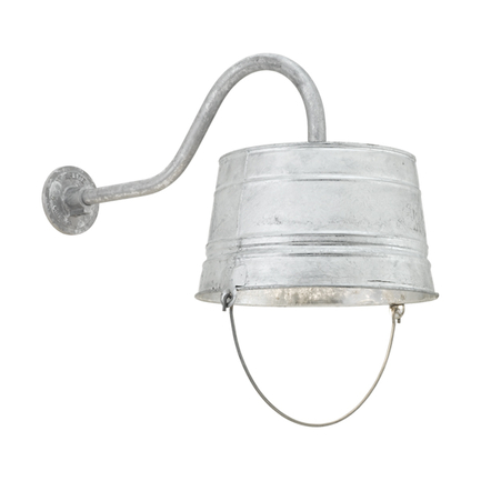 """15"""" shade with HL-A arm in 96 galvanized"""