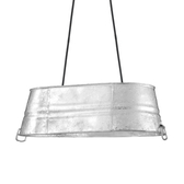 The Oval Bucket Cord-Hung Ceiling Light