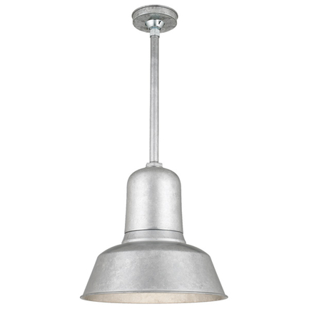 """16"""" shade with 15"""" ST2 and HSC in 96 Galvanized finish"""