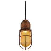 Tapered Cord-Hung Pendant