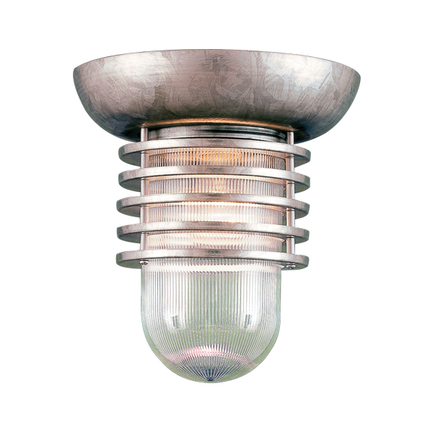"""6"""" fixture in 96 Galvanized finish with clear glass"""