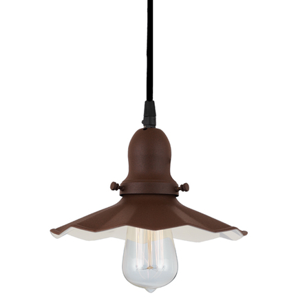 "9"" shade in br 47 finish, with br47 finish cap, cb8 cord mounting"