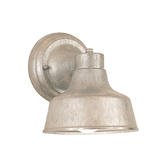 "6"" RLM shade wall light in 96 galvanized finish"