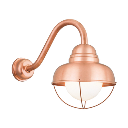 """10"""" shade in 48 raw copper, B-1 arm with DCC in 48 raw copper, 6OP and DWG-2 accessories"""