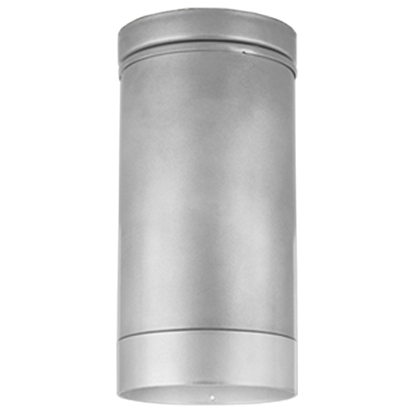 The long cylinder flush mount ceiling lights h 16064 f with light shield in 101 brushed aluminum aloadofball Choice Image