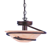 Short Chain-Hung Ceiling Light