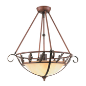 Tall Chain-Hung Ceiling Light