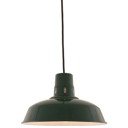 """14"""" shade in 95 Dark Green finish with CB8 mounting"""