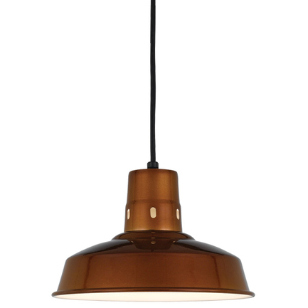 """12"""" RLM shade in 121 Cafe finish with CB8 mounting"""