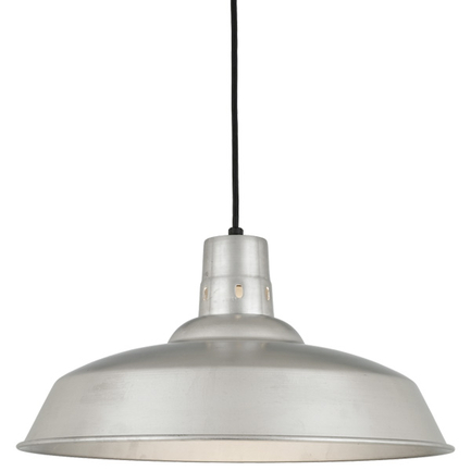 """20"""" shade in 118 Painted Aluminum finish with CB8 mounting"""