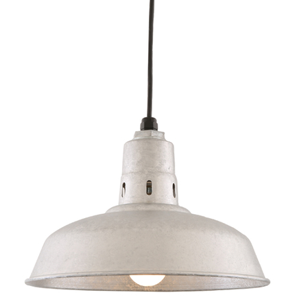 """14"""" RLM shade in 96 Galvanized finish with CB8 mounting"""