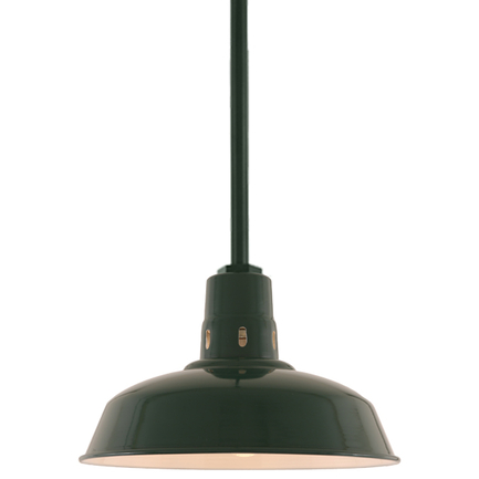 """14"""" shade with ST2 in 95 Dark Green finish"""