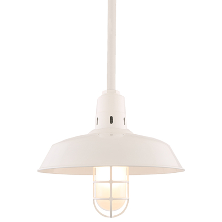 """16"""" RLM shade with ST2 in 93 White finish"""