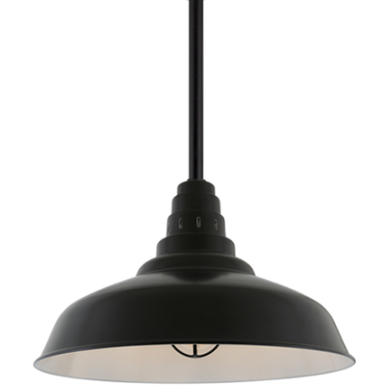 """27"""" shade with ST3 in 91 Black finish"""