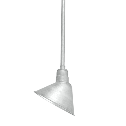 """10"""" shade with ST2 in 96 Galvanized finish"""