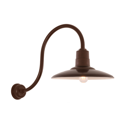 """18"""" shade with HL-O gooseneck arm and DCC accessory in 145 Oil Rubbed Bronze finish"""