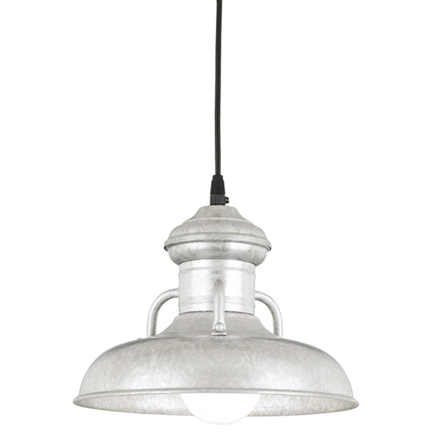 """10"""" RLM shade in 96 Galvanized finish with CB8 mounting"""