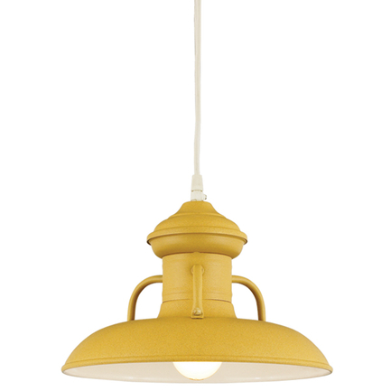 """18"""" shade in 92 yellow finish with CW8 mounting"""