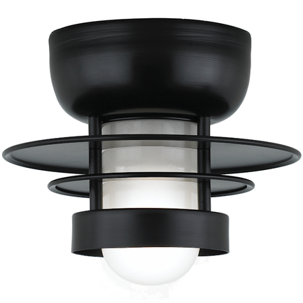 """10"""" shade in 91 Black finish with frost glass"""