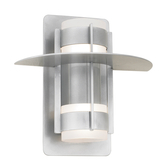 Hatted Atlas Wall Light with Center Can