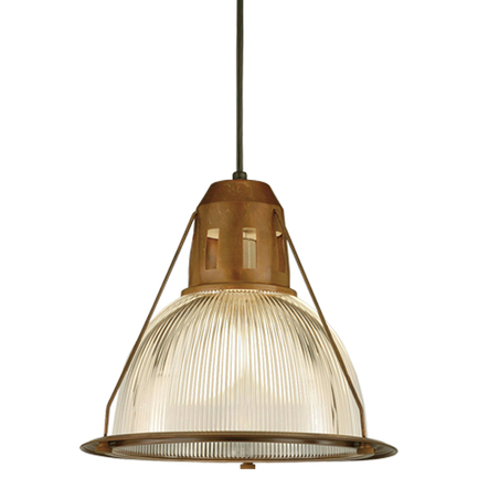 """14"""" shade with ribbed lens in 77 rosewood, 8 foot black cord with 91 black canopy"""
