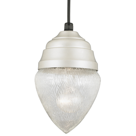 """7"""" fixture in 101 brushed aluminum, 8 foot black cord with 91 black canopy"""