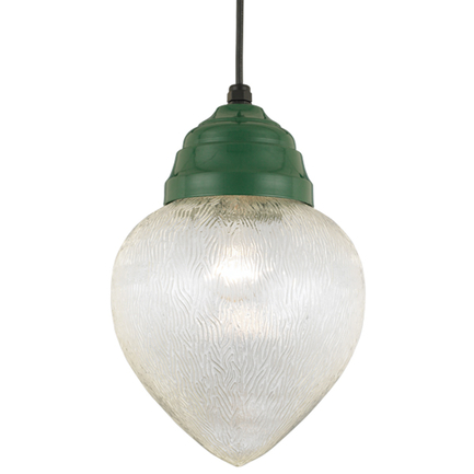 """10"""" fixture in 29 french green, 8 foot black cord with 91 black canopy"""