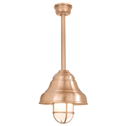 """9"""" shade and 10"""" ST2 with SMC and DCC in 24 satin copper, CGU accessory with frost glass"""
