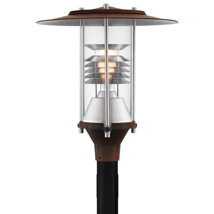 """20"""" fixture in 77 rosewood with clear globe"""