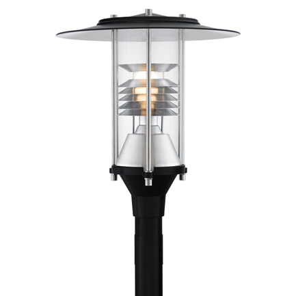"""20"""" fixture in 91 black with clear globe"""