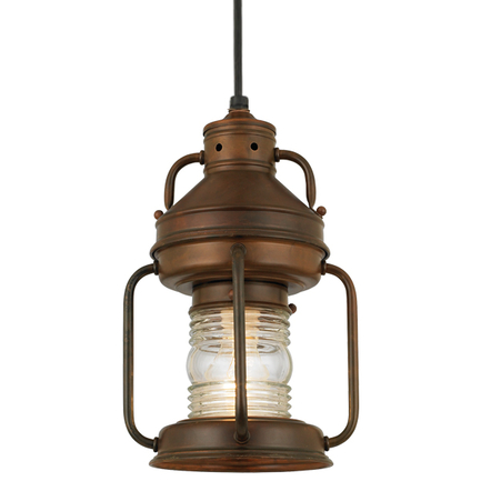 """6"""" wide fixture with ribbed glass in 77 rosewood and 8 foot black cord with 91 black canopy"""