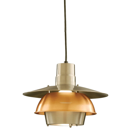 """14"""" shade in 11 satin steel with 24 satin copper ring, 8 foot black cord with 91 black canopy"""
