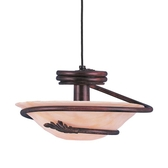 Short Cord-Hung Ceiling Light