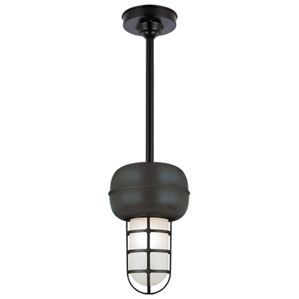 "Small fixture in 91 black with frost glass, 15"" ST2 with HSC in 91 Black"
