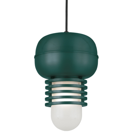 "9"" fixture in 95 Dark Green finish with frost glass and CB8 mounting"