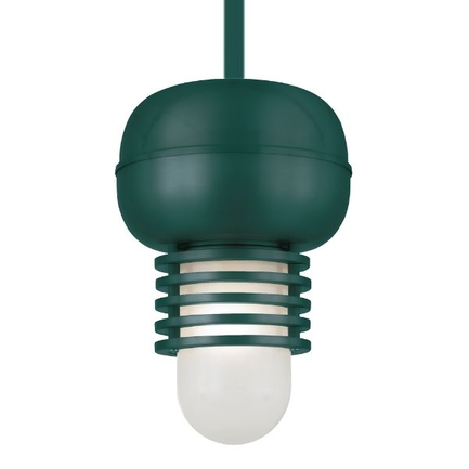 """7"""" fixture in 95 Dark Green finish and frost glass with CB8 mounting"""