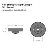 Hang Straight Swivel Canopy for Sloped/Vaulted Ceilings