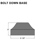 Bolt Down Base Pole