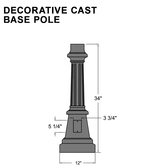 Decorative Cast Base Pole