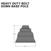 Heavy Duty Bolt Down Base Pole