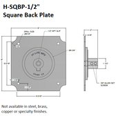 Square Back Plate