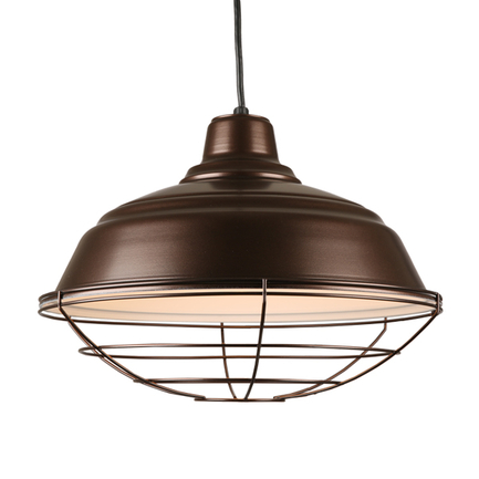 """17"""" quick ship curved warehouse shade in 145 oil rub bronze finish and 8ft black cord with oil rub b"""