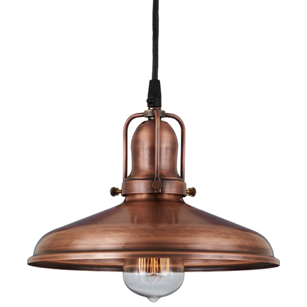 "10"" shade in 49 weathered copper finish , with 49 weathered copper cap and cb7 cord mounting"