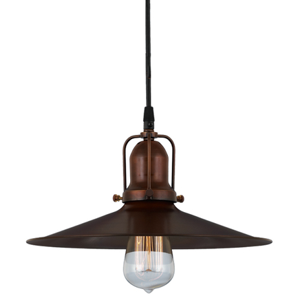 """12""""shade in 77 rosewood finish and 77 rosewood finish cap, cb8 cord mounting"""
