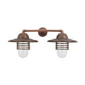 Hatted Layered Vapor Jar Duo Wall Light