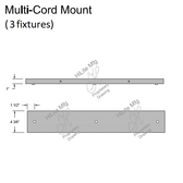 Multi-Cord Mount for 3 Fixtures
