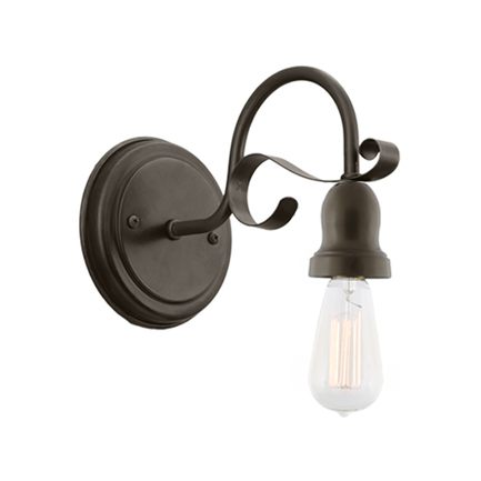 "2 5/8"" fixture with M-14 arm and BM-1 canopy in 119 bronze finish"