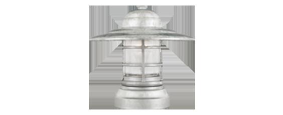 Column-Mounted Saucer Vapor Jar